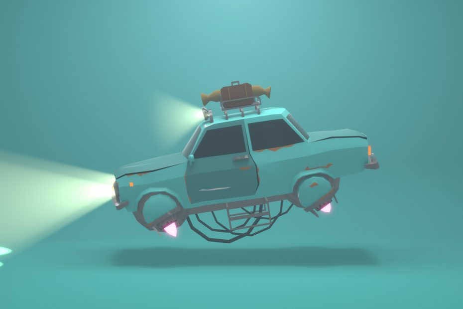 Flying Sci-Fi Car