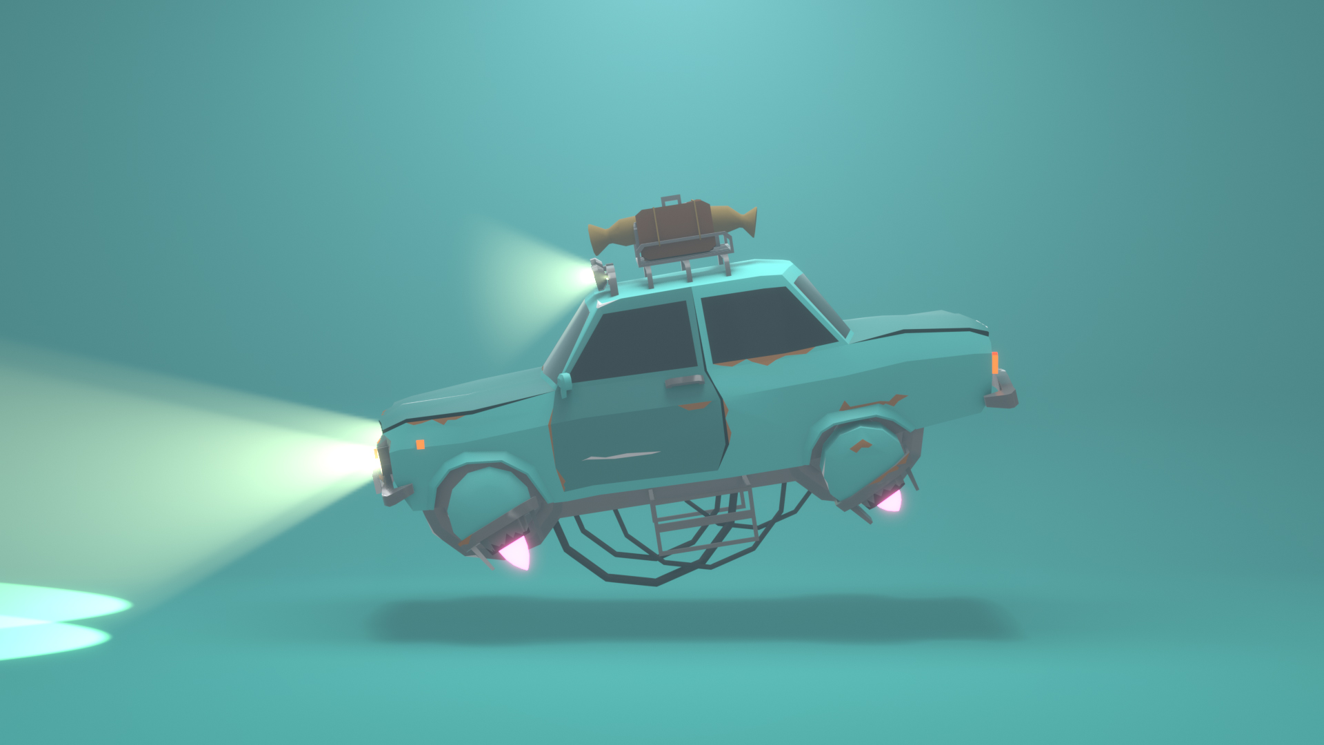 Flying Sci-fi Car by Duko Stolwijk